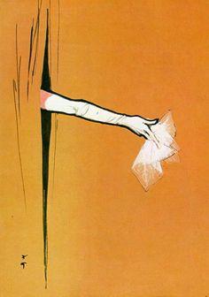 El artista francés de origen italiano René Gruau (1909-2004) fue un famoso ilustrador