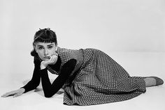 Audrey Hepburn Style Tip: Layer a dress over your turtleneck for a cool-girl look