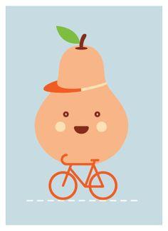 The Happy Pear Project, 'En bicicleta'. Hacer deporte te ayudará a ser más feliz! My Modern Metropolis #Ilustraciones