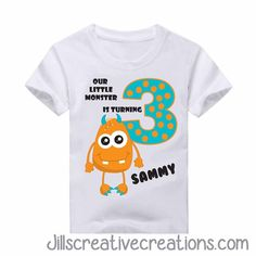 Monster Birthday Shirt If you have any questions placing an order please feel free to contact us jillsinvitations@gmail.com TODDLER SIZE CHART YOUTH SIZE CHART ADULT SIZE CHART