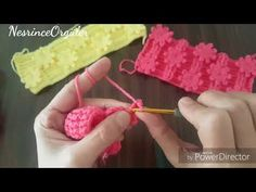 3D lı çiçek bahçesi modeli - YouTube Knitting Stiches, Knitting Videos, Crochet Stitches Patterns, Crochet Videos, Baby Knitting, Stitch Patterns, Love Crochet, Crochet Baby, Knit Crochet
