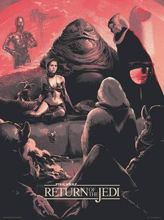 Star Wars: Episode VI - Return of the Jedi by Juan Esteban Rodriguez - Home of the Alternative Movie Poster -AMP- Star Wars Poster, Star Wars Art, Disney Star Wars Land, Laurent Durieux, Le Retour Du Jedi, Jedi Ritter, Drawing Stars, Star Wars Prints, Drawn Art