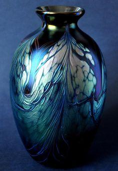 Richard Golding Station Glass Tall Black Vase http://www.bwthornton.co.uk/isle-of-wight-richard-golding-bath-aqua-glass.php