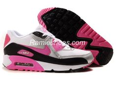 fd7fcf86722603 Nike Air Max 90 Womens Shoes WholesaleWhite Silver Black Pink Nike Store