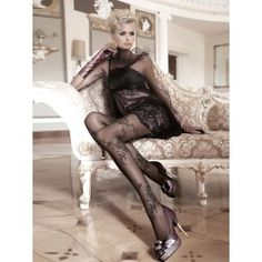 Collants Glamour Romantique Victorien Pin-Up Pearl