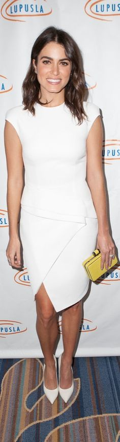 When it comes to wearing dresses, white is totally Nikki Reed's color. Nikki Reed Wedding, My Outfit, Peplum Dress, Celebrity Style, Style Me, Personal Style, Wearing Dresses, Hair Makeup, White Dress