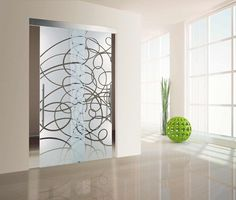 Double glass doors hung interior decoration and design interior