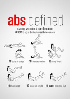 20 Stomach Fat Burning Ab Workouts From http://NeilaRey.com!
