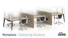 Our workplace distancing solutions provide environments that keep people healthy, safe and productive.  Create healthier workspaces with our soft seating, panel system, acrylic privacy screens, freestanding acrylic screens, fixed acrylic screens, surface lateral acrylic screens, end surface acrylic screens, laminate lateral gallery panels with acrylic screens and more!   #groupelacasse #workplacedistancing #physicaldistancing #staysafe #smartspaces #privacy Panel Systems, Privacy Screens, Soft Seating, Workspaces, Office Furniture, Corner Desk, Surface, Create, Gallery