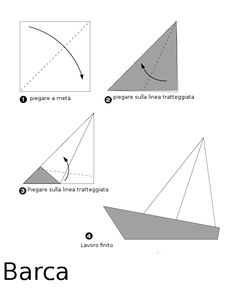 origami barchette di carta - Cerca con Google