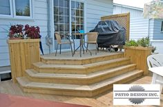 Patio avec SPA Patio Steps, Garden Steps, Patio Plans, Backyard Plan, Backyard Patio, Outside Room, Outside Living, Patio Deck Designs, Patio Design