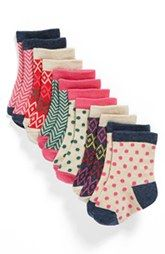Nordstrom Baby Crew Socks (Baby Girls) (6-Pack)