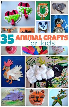 35 Easy Animal Crafts For Kids crafts Animal Crafts For Kids, Summer Crafts For Kids, Craft Activities For Kids, Toddler Crafts, Projects For Kids, Preschool Activities, Art For Kids, Babysitting Activities, Animal Activities
