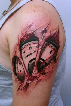 Speedometer tattoo