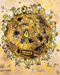 The Sun 1999 80 1/4 X 100 inches Mixed media on linen