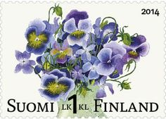 Finland releases new Spring Stamps on May 5 Postage Stamp Art, Going Postal, Flower Stamp, Art Floral, Mail Art, Stamp Collecting, My Stamp, Illustrations, Pansies