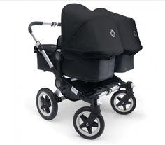 Bugaboo Donkey twin, alu/schwarz - KIND DER STADT - Kinderwagen, Kindermöbel & Besonderes für den Start ins Leben