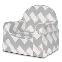 Grey is trendy... Chevron is Stylish, the Little Reader Chair is just awesome.