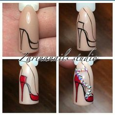 What manicure for what kind of nails? - My Nails Shoe Nails, Diy Nails, Stiletto Nails, Image Nails, Nail Art Designs Videos, Nail Art Techniques, Stylish Nails, Nagel Gel, Creative Nails