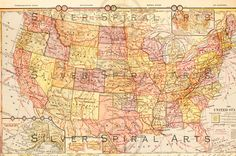 Vintage United States Map Instant Digital Download is ready to frame and is perfect for DIY home decor. Use this antique US map illustration printable as wall art or cool gift idea.