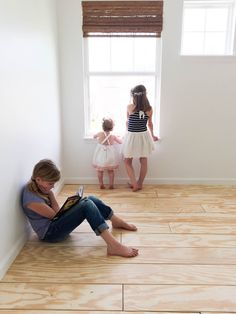 DIY PLYWOOD PLANKED FLOORS