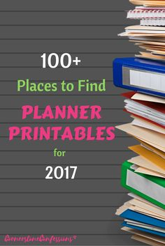 100+ Places to Find 2017 Planner Printables