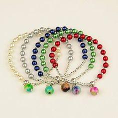 pulseras de perlas y cadena