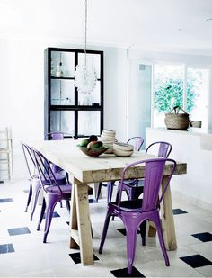 Ultraviolet Marais A Side Chairs bring confidence and style to a space.  Industrywest.com