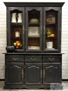 Our China Cabinet Goes Country Chic Using Chalk Paint™ By Annie Sloan In  Graphite. U2014 At Apple Box Design Studio.