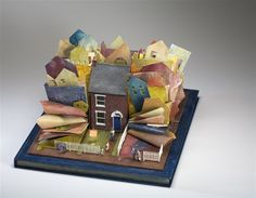 """""""Side By Side, Subdivide"""" Kendal Murray 17 x 24 x 30.5 cm - mixed media assemblage - $4,500"""
