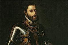 Karel V: Karel de vijfde was keizer van het Duitse rijk, en koning van Spanje en vele kolonies.