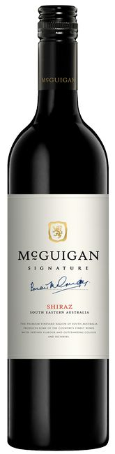 McGuigan Signature Shiraz 2014 vintage from Australia. A full bodied red wine with smoky blackberry flavours and a hint of spice.