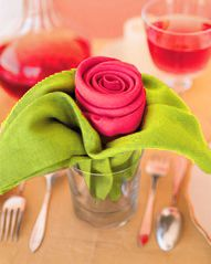 Napkins- What a lovely idea