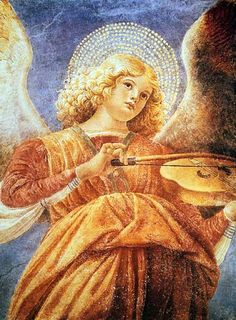 Melozzo da Forli (1438-1494) - Music Making Angel With Violin.
