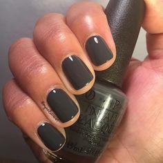 Grey nail polish, nail polish trends, gray nails, opi gel polish, pretty na Grey Nail Polish, Wedding Nail Polish, Gray Nails, Nail Polish Trends, Nail Polish Designs, Gel Polish, Opi Nail Colors, Pretty Nail Colors, Pretty Nails