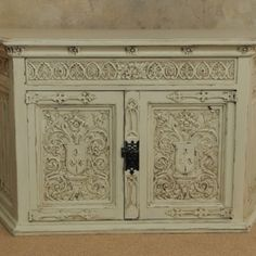 GypsyFaire ornate carved console painted with Farrow & Ball string.