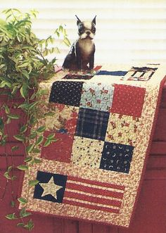 Primitive Folk Art Table Runner Quilt Pattern:  CAPE COD KITCHEN