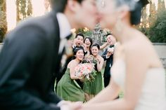 Elegant Coral California: take focus off bride & groom- show reaction of friends instead!