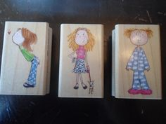 Me & My Big Ideas Stamps , Lot of 3, Dori , Kat , Courtney , little girl ,  #CreativeBeginnings