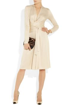 Issa | Wrap-effect silk-jersey dress | NET-A-PORTER.COM