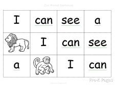 cut up cards...can be used to create a sentence or a question.  Just click on the pix to download and print.