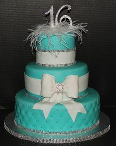 Sweet Sixteen cake by Cecy Huezo . www.delightfulcakesbycecy.com