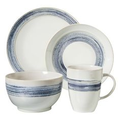 Threshold™ 16 Piece Preston Denim Dinnerware Set - Blue/White : Target