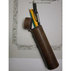 Leather pen case by Thinking Power Notebook (I think?)