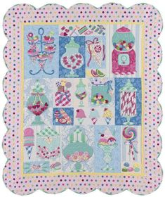 Sugar Kisses Quilt by Verna Mosquera.  Got the pattern at a quilt show.  Still deciding on fabrics
