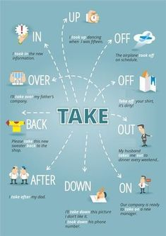 teach grammar - phrasal verbs with take