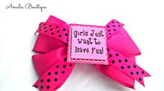 Hair Bow  Pink Layered Hair Bow Girls Just Want by AmalieBowtique, $7.00