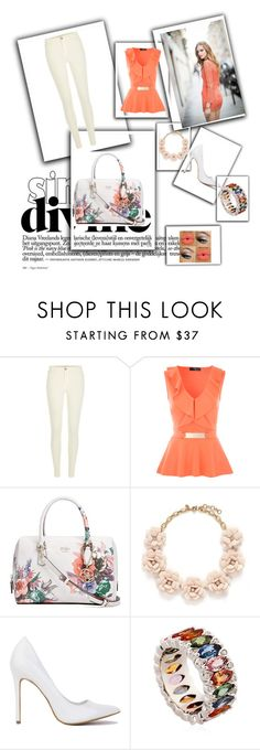 """""""Sweet Orange"""" by suvapapp on Polyvore featuring River Island, GUESS, J.Crew and Niquesa"""