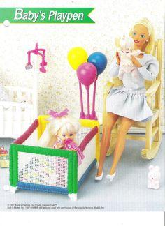 Plastic Canvas Barbie or Fashion Doll Babys por BarbiesDollVillage