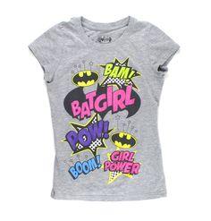 Batgirl t-shirt, superhero t-shirt, grey t-shirt, DC Comics for girls